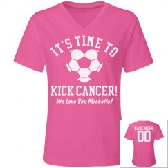 Time to Kick Breast Cancer Soccer Mom Custom Shirt