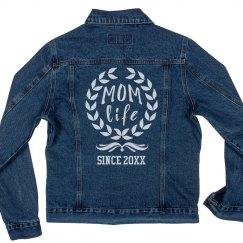 Custom Mom Life Denim Jacket