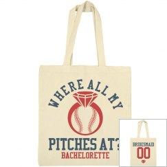Baseball Bachelorette Party Favor Bag 1