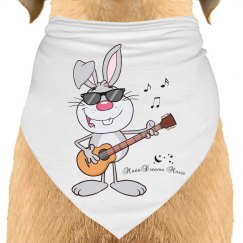 Cool Bunny Playing Guitar
