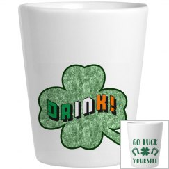 Irish Drinking Shot Glass