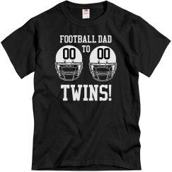 Football Dad to Football Twins Shirt With Custom Number