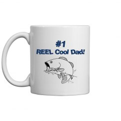 REEL Cool Dad mug - blue