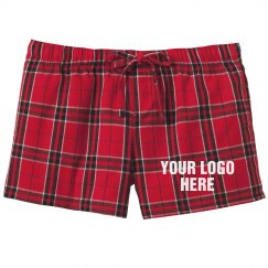 Custom Business Logo Flannel Shorts
