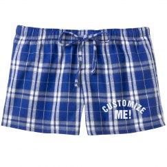Customize Flannel Pajama Shorts