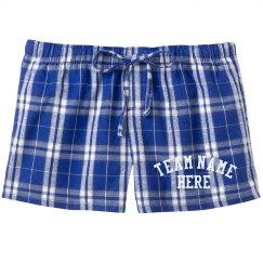 Custom Sports Team Pajama Shorts