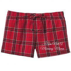 Not A Morning Mom Cute PJ Shorts