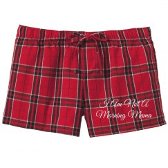 Not A Morning Mom Cute PJ Shorts