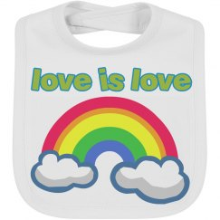 Love is Love Emoji Baby Bib