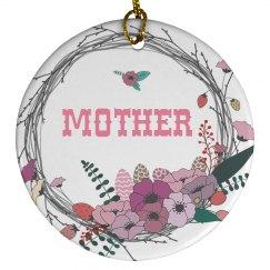 Pretty Floral Mum Ornament