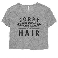 Funny Cheer Girls Hair Volume