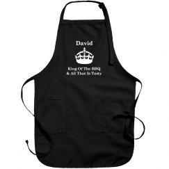 David king of the BBQ apron