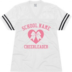 Custom Cheerleader School Jersey