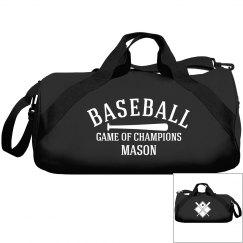 Mason, Baseball bag