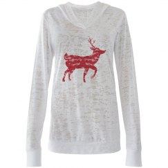 Reindeer Hooded Tee