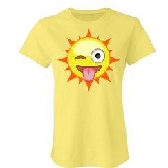 Playful Sun Emoji T-Shirt