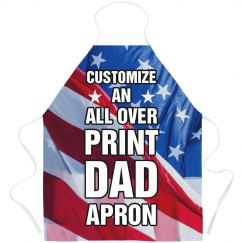 Customize All Over Print Dad Apron