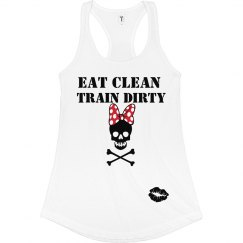 Eat Clean Bow Skull