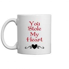 you stole my heart mug