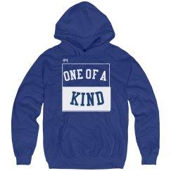 One of a kind blue hoodie