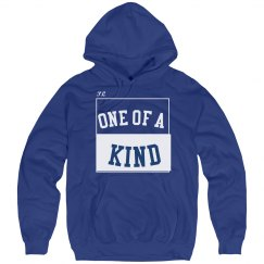 One of a kind blue hoodie