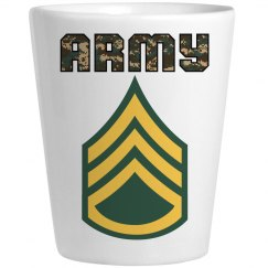 ARMY SSG Shot Glass