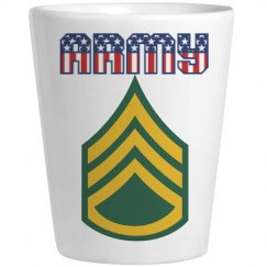 ARMY SSG USA Shot Glass