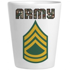 ARMY SFC Camo Shot Glass