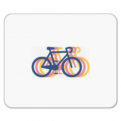 Tri Color Bike Mouse Pad