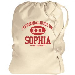 Personal duds of sophia laundry bag