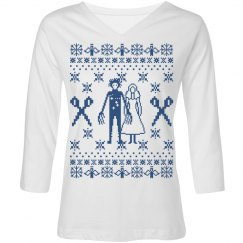 Ugly Sweater V Neck Tee