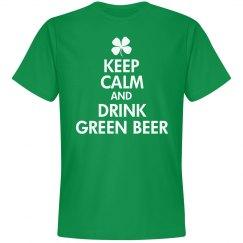 Keep Calm Drink Green Beer
