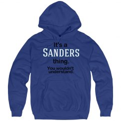 Its a Sanders thing