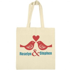 Love Birds Tote Bag for Valentines Day