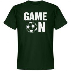 Game on soccer shirt