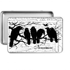 Halloween Tin with Ravens-Rectange