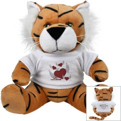 Love Hearts Plush Tiger