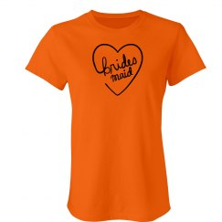 Bridesmaid Heart Tshirt