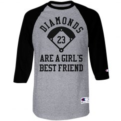 Baseball Diamonds Are A Girls Best Custom Shirt