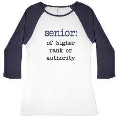 Senior Definition