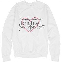 Beauty Shines Sweatshirt White