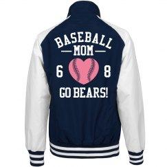 Baseball Mom Pink Heart