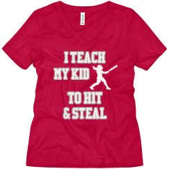 Hit & Steal Softball Tee