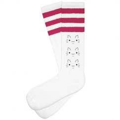 Kitty Cartoon Face Socks