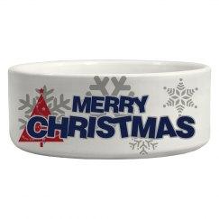 Merry Christmas Pet Bowl
