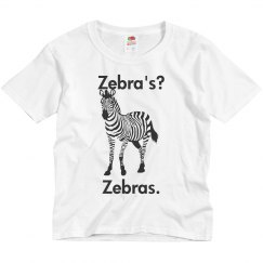 Youth Zebra Tee