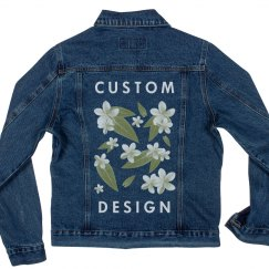 Custom Floral Jean Jacket Teen Gift