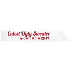 Cutest Ugly Sweater Sash