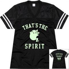 Custom Glow Cheerleader That's The Spirit Jersey