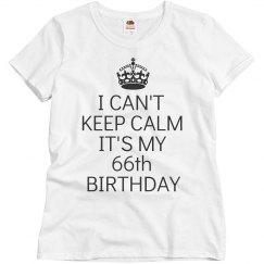 It's my 66th birthday